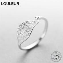 Petits anneaux feuille/croix pour femmes, en argent Sterling 925, bague feuille simple, ajustable, à la mode, bijoux en argent 925