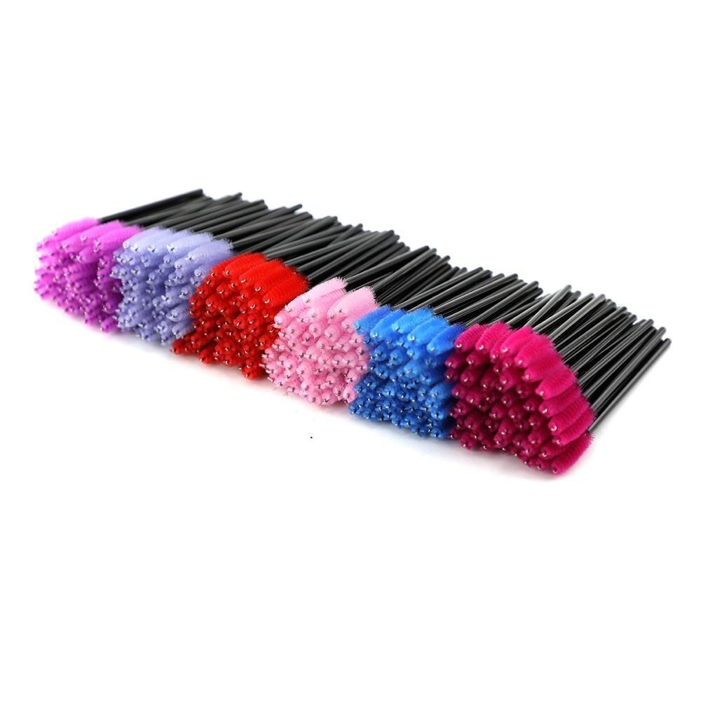 200pcs Eyelash Brushes For Extension Disposable Eyebrow Brush Mascara Wand Applicator Eyelash Cosmetic Brushes Makeup Tool