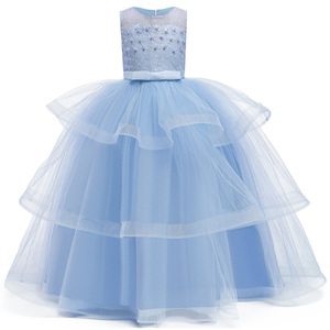 Image 3 - เจ้าหญิงดอกไม้สำหรับงานแต่งงาน Communion Gown ชุดวันเกิดสาวลูกไม้กลีบยาว Maxi ชุดงานเลี้ยง