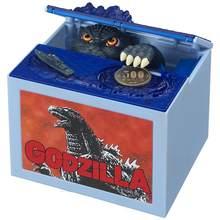 Gojira-hucha automática original de 10Cm para niños, caja de dinero en efectivo con cajas de decoración para el hogar, regalo para niños