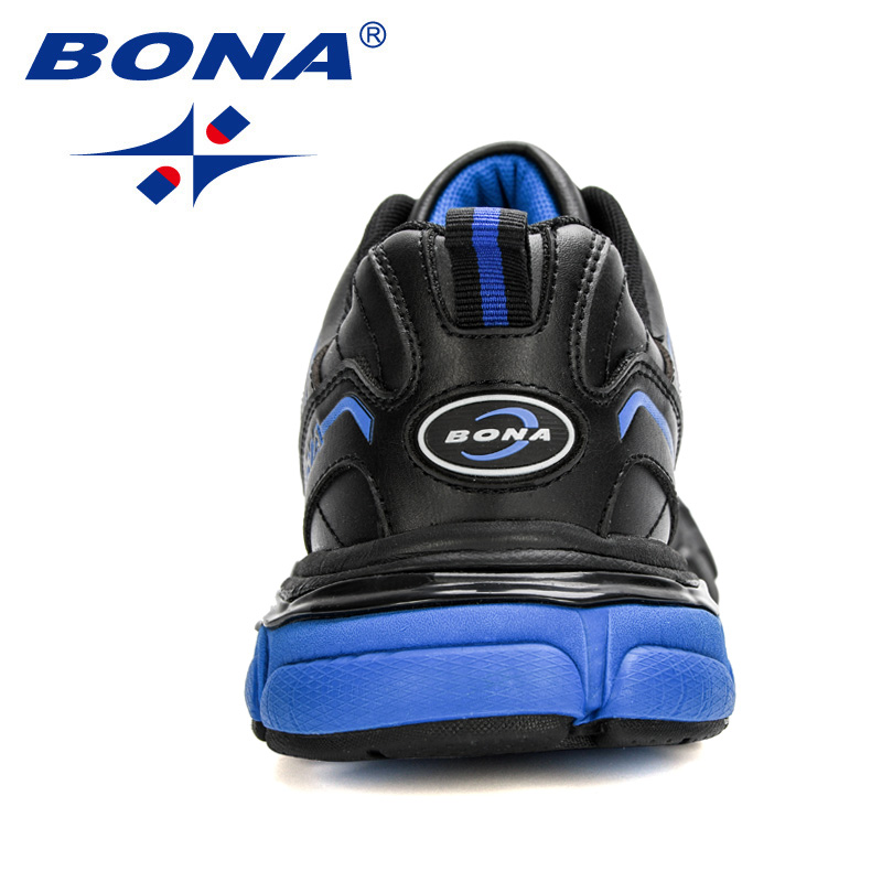 BONA 2020 New Arrival Running Shoes Men Outdoor Sports Footwear Action Leather Sneakers Man Nonslip Walking Flats Shoes Trendy