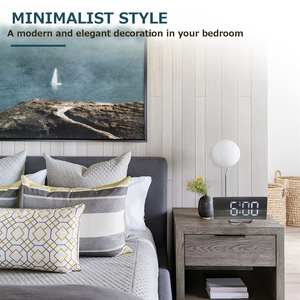Alarm-Clock Table Time-Night-Lcd-Light Snooze-Display Desktop Digital Multifunction New