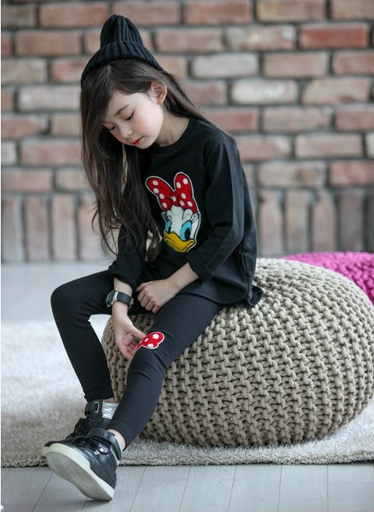 Girl Clothing Set Mickey Cartoon