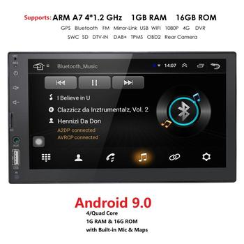 7 Inch 2 Din Car Radio Android 9 GPS Navigation Universal Player 7 Inch Touch Screen Stereo Autoradio Multimedia SWC image