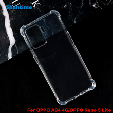 Funda de cristal Ultra delgado para OPPO A94 4G, tecnología de absorción de impacto transparente, funda de TPU suave para OPPO Reno 5 Lite