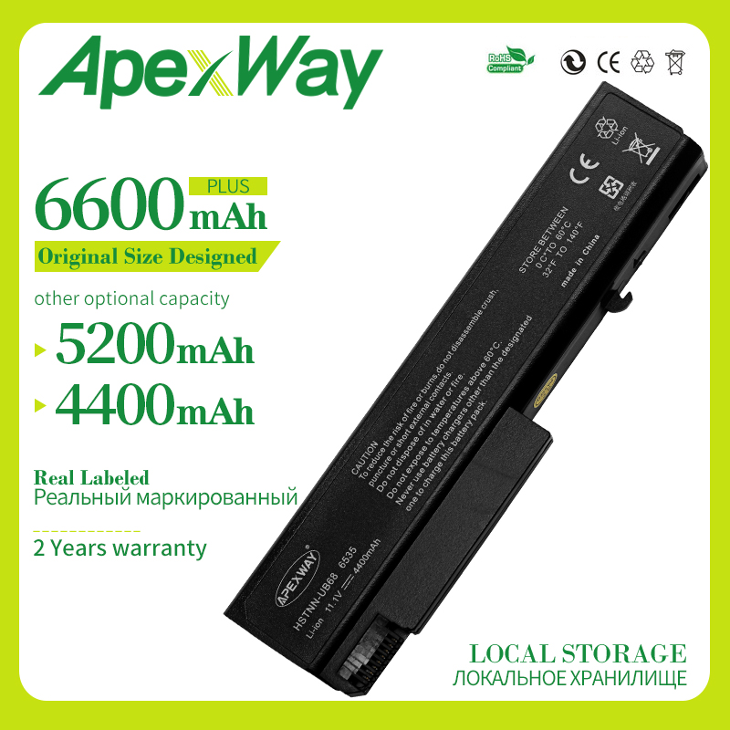 Apexway Laptop Battery For HP EliteBook 6930p 8440p 8440w For Probook 6440b 6445b 6450b 6540b 6545b 6550b 6555b 482962-001