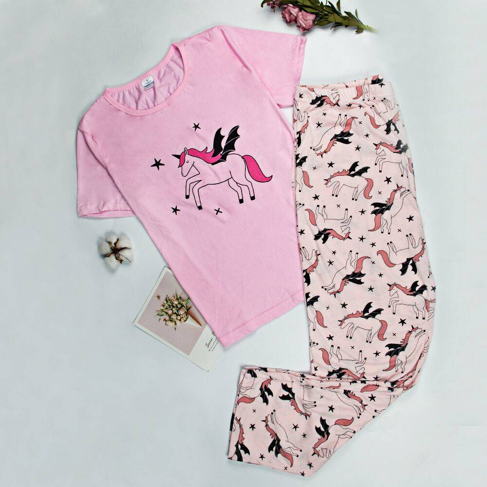 Big Sale Women Sleepwear Pajama Set Women Printed Cute New Pajamas Cotton Short Sleeve For Women Cartoon Pajamas Womens Pajamas