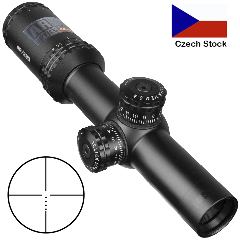 1-4x24 Ar Optics Drop Zone-223 Reticle Tactical Riflescope With Target Turrets Hunting Scopes For Sniper Rifle Hunting