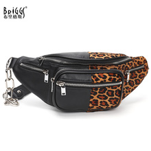 BRIGGS New Chains Women Waist Bag Genuine Cow Leather Fanny Pack Large Capacity Fashion Chest Bag Travel Belt Bags sac banane все цены
