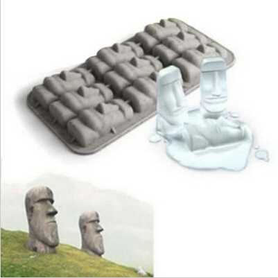 Paaseiland Moai Stenen Beelden Freeze Mini Siliconen Ijs Lade Ijs Rooster Cubes Diy Mould Ice Mold Grappige Nieuwe Trucs party Drink