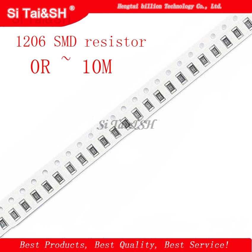 100pcs 1206 SMD Résistance 220 Ohm 5/% ROHS 220R