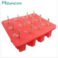 1PC The New Amazon Explosion Models 12 Zodiac Animal Shape Silicone Popsicle Ice Cream Mold To Send Wooden Stick