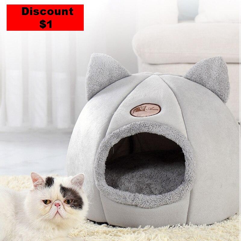 Новый глубокий сон комфорт зимой кошка кровать маленький коврик корзина маленькая собака продукцию собственного производства палатка для ...