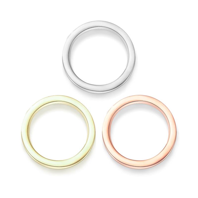 Love-Rings Screw Wedding-Band Cubic-Zirconia Women Carter Titanium Steel for Horizontal-Line