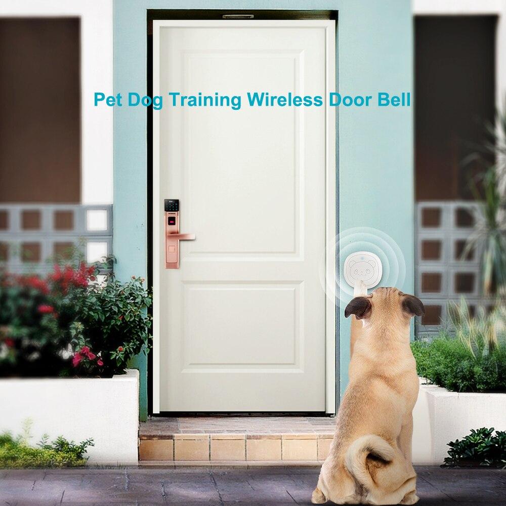 Pet Dog Doorbells Wireless Door Bell House-training Multifunction Sensor Motion (Receiver & Transmitters) Training Tool-2