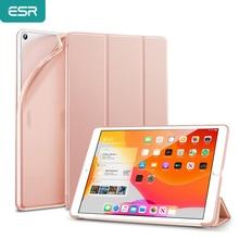 """ESR gumowany pokrowiec na iPad 7 2019 Rebound Slim Smart etui z podstawką z elastyczną pokrywa tylna z TPU pokrywa dla iPad 7th Gen 10.2"""""""