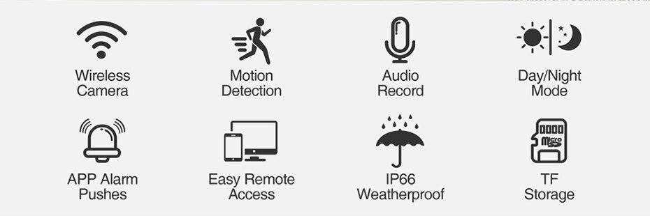 Hd59515fd65ec4b2a9f00c6be9ab72b5dA Techege HD 1080P Wireless SD Card Slot Audio IP Camera 2.0MP wifi Security Camera Night Vision Metal Waterproof Outdoor Camera