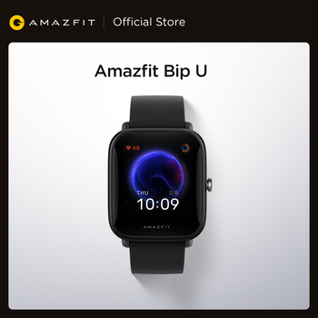 Смарт-часы Amazfit Bip U водонепроницаемые (5 атм) с цветным дисплеем