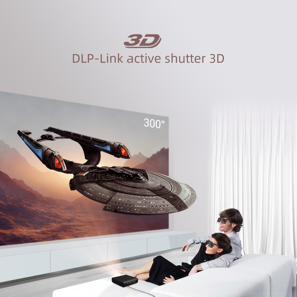 BYINTEK U30 Full HD1080P 2K 3D 4K Android Smart Wifi 300 polegada Mini Projetor portátil laser Home Theater led dlp Proyector Beamer-1