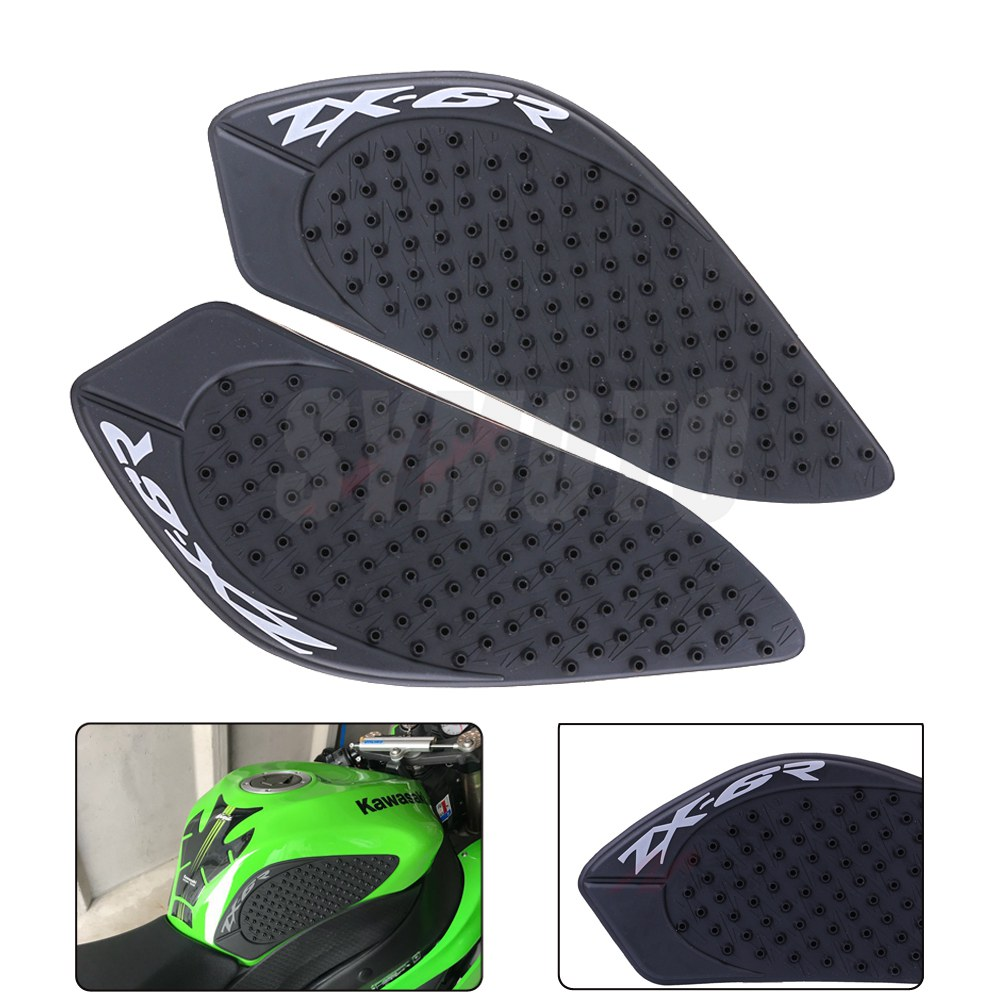 Motorcycle Anti Slip Tank Pad 3M Side Gas Knee Grip Traction Pads Protector Sticker For Kawasaki Ninja ZX-6R ZX6R 2009-2015