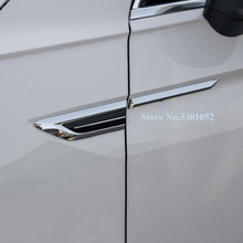 For Volkswagen VW Tiguan Mk2 2016 2017 2018 Side Wing Fender Badge Emblem Styling Sticker Car Accessories цена и фото