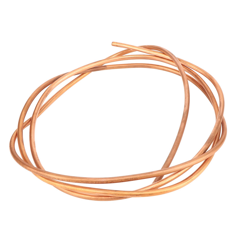 2m C1100 T2 Copper Tube Soft <font><b>Coil</b></font> Pipe for Air Conditioner Refrigerator OD 6mm / <font><b>ID</b></font> 5mm image
