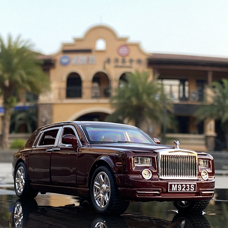 1:24 Rolls Royce Phantom Alloy Car Model Diecasts & Toy Vehicles Metal Car Model Collection Simulation Sound Light Kids Toy Gift 5