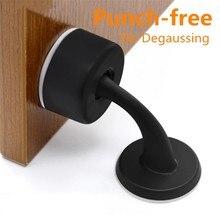 Porta não-magnética rolha livre de perfuração adesivo porta escondida suportes de chão montado prego-livre porta pára de móveis ferragens