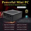 Jogo mini pc i9 xeon E-2186M i7 8850 h 6 núcleo 12 threads nuc computador ganhar 10 pro nvme pcie 2 * ddr4 ac wifi hdmi mini dp