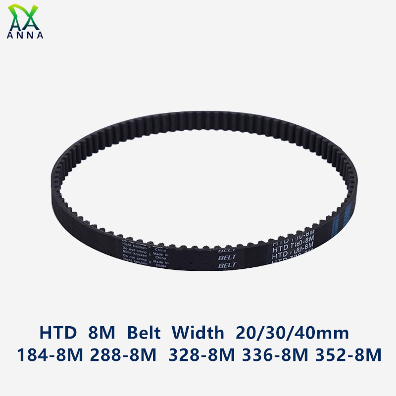 HTD 8M synchronous belt C=184/288/328/336/352 width 20/<font><b>30</b></font>/40mm Teeth <font><b>23</b></font> <font><b>36</b></font> 41 42 44 HTD8M Timing Belt 184-8M 288-8 336-8M 352-8M image