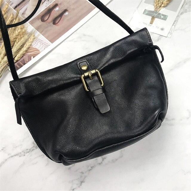 MJ لينة جلد طبيعي المرأة حقيبة ساعي الإناث الجلد الحقيقي Crossbody حقائب كتف حقيبة يد صغيرة الرجعية حقيبة الهاتف للفتيات