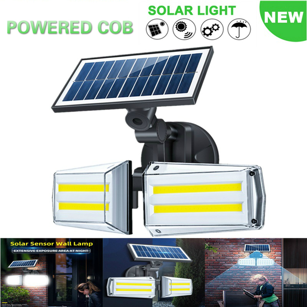 Rotatable Microwave 20W LED 80 COB Solar Lights For Garden Light Decoration Outdoor Wall Lamp IP65 PIR Motion Sensor Solar Lamp
