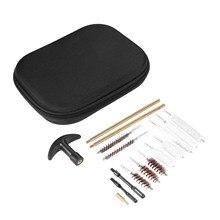 16Pcs/Set Universal Pistol Gun Cleaning Kit Barrel Brass Rod Brush Cleaner Tool for Caliber Handgun .22 .357 .38 .40 .44 .45 9mm