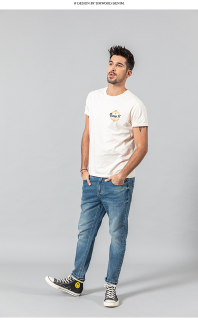 Fashion T-shirt with vintage letter print