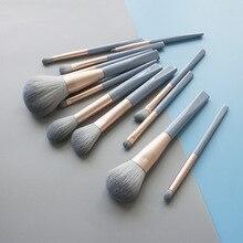 Soft Makeup Brush Set Brush 12Pcs Powder Blend Blush Brush Eye Shadow Brightening Brush Multi-Function Shadow Kit недорого