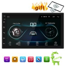 "7 ""Android 8,1 coche Bluetooth reproductor MP5 Radio Estéreo reproductor de navegación GPS entrada de Audio AUX modulador FM Bluetooth USB jugador(China)"