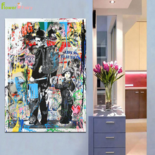 Abstract Graffiti Funny Movie Stars Wall Art Canvas Painting Cuadros Nordic Poster Wall Pictures For Living Room Prints Unframed
