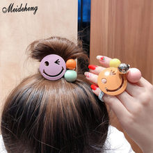 Fashion Handy Loose Keychain DIY Beads Jewelry Through Hole Laughing Face Hair Ornaments Headware