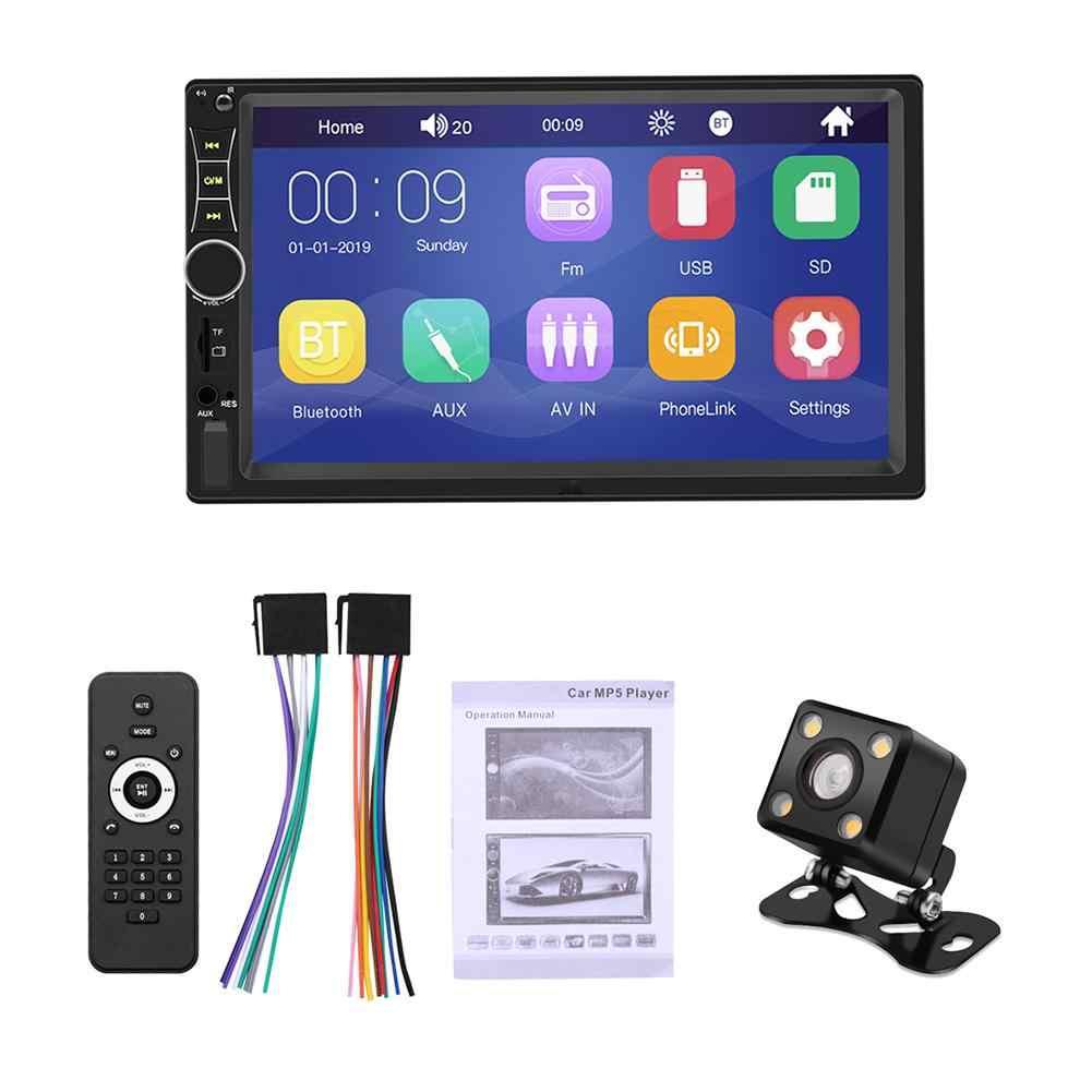 Samochodowy odtwarzacz multimedialny 2 Din Bluetooth Mp5 odtwarzacz stereo 2 Din Radio samochodowe nawigacja GPS odtwarzacz MP5 z tylną kamerą