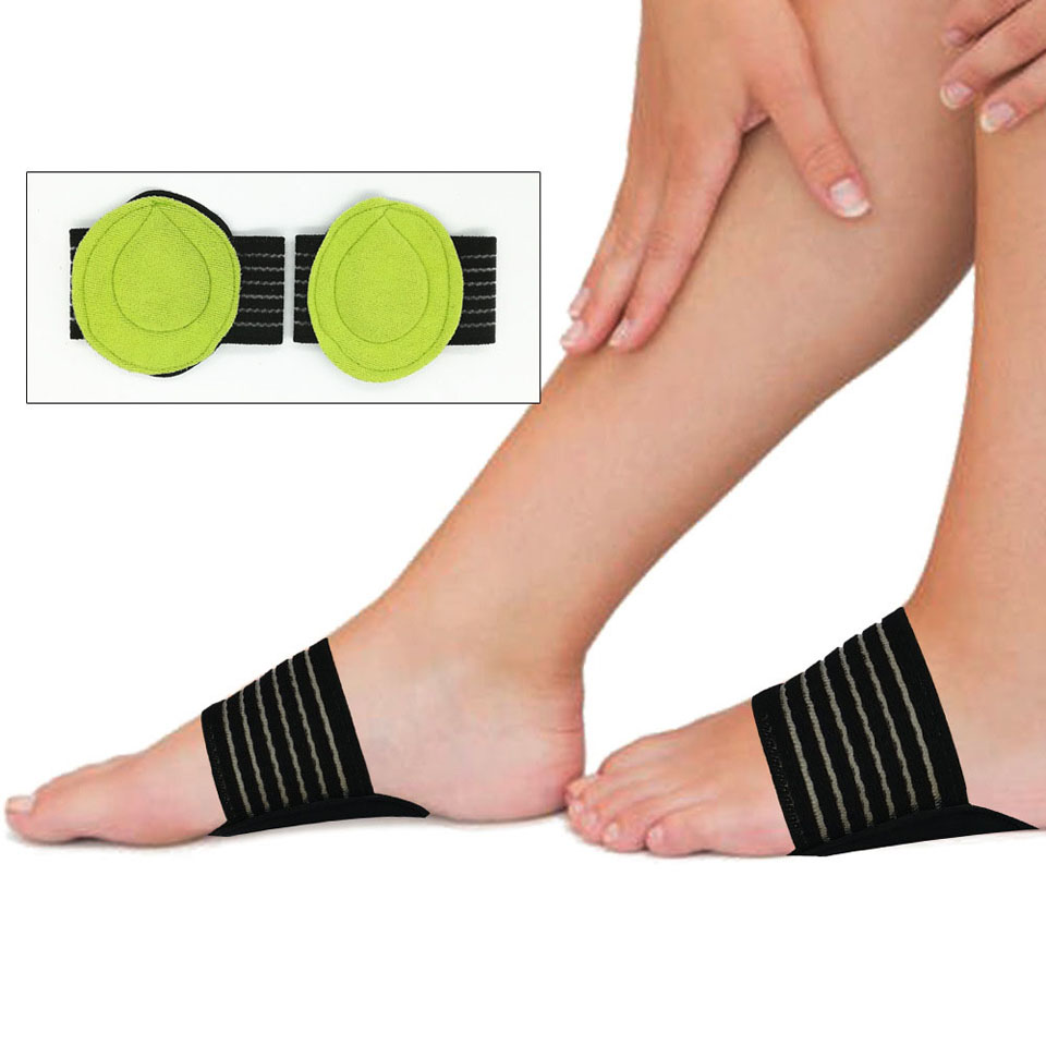 1 Pair Foot Arch Support Plantar Fasciitis Heel Pain Aid Foot Run-up Pad Feet Cushioned Cushioned Shoes Insole Sports Accessory image