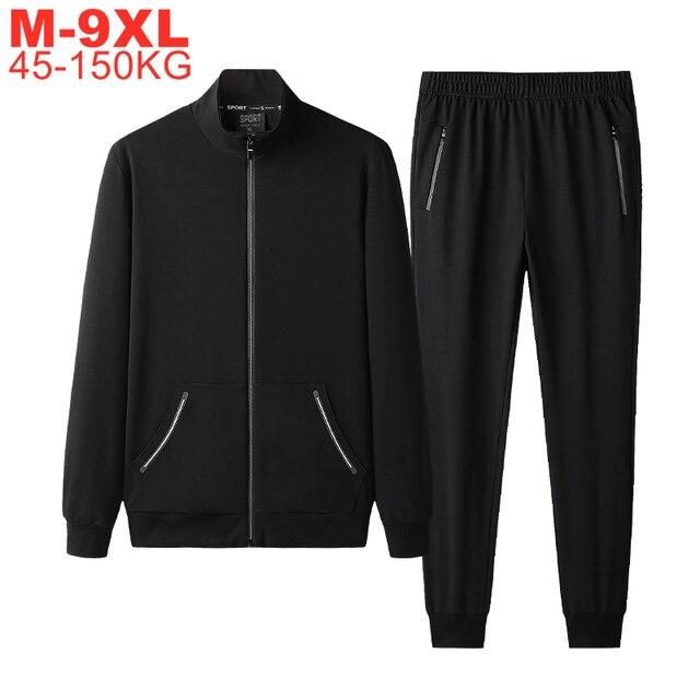 Autumn Sportswear Tracksuits Men Sets Large Size Men's Clothing Jacket+pants 2 Pieces Sports Set Plus Size 8xl 7xl Tracksuit Man 1