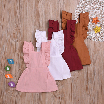 Baby Girls Tutu Summer Dress Girls Toddler Princess Clothing Casual HomeStreet Wear Cute Infant Kids Party Dress Up For 6M-3T image