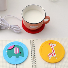 Usb Gadget Tea-Warmer Thermostatic Heating-Cup Coffee Milk Drink Cartoon Pads Tray-Mug