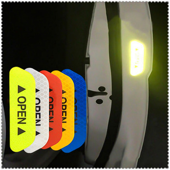 4Pcs Car Door OPEN Reflective Tape Warning Mark Notice Sticker for BMW all series 1 2 3 4 5 6 7 X E F-series E46 E90 F09 image