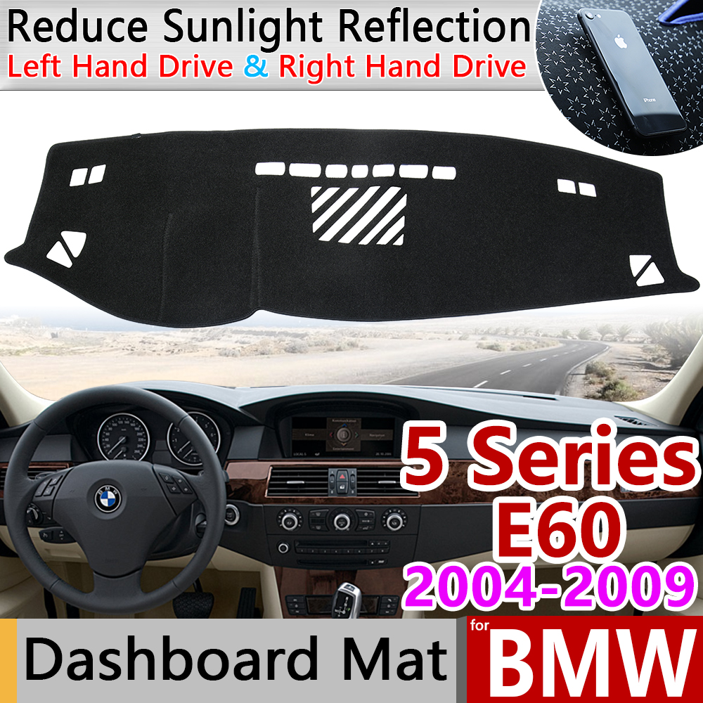 For BMW 5 Series E60 2004 2005 2006 2007 2008 2009 Anti-Slip Mat Dashboard Cover Pad Dashmat Car Accessories 520i 525i 530i 535i
