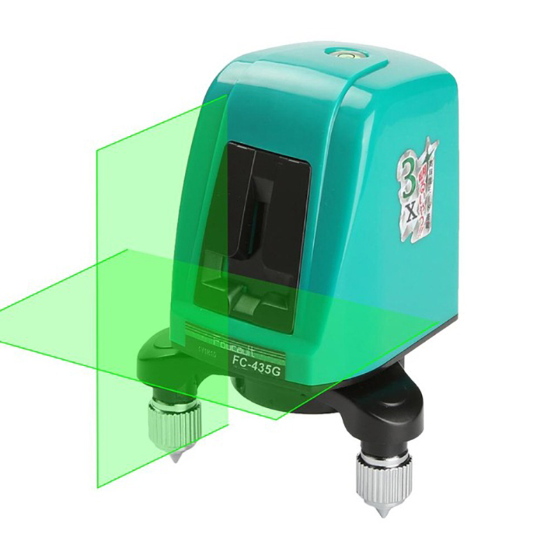 FC435G Laser Level <font><b>2</b></font> Green Cross Line <font><b>1</b></font> Point AK435 Horizonatal Vertival 360 Rotary Self- leveling Nivel Laser Diagnostic tools image