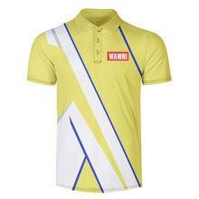WAMNI брендовая модная быстросохнущая Мужская рубашка для бадминтона 3D рубашка-поло для тенниса Harajuku Бодибилдинг Мужская Спортивная Свободная рубашка поло