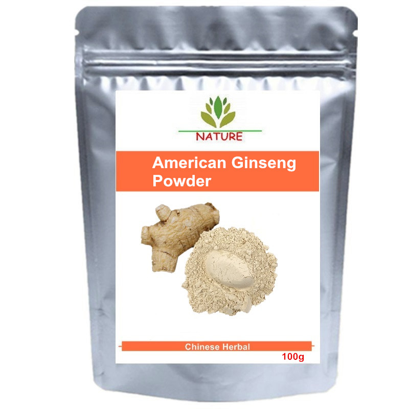 China Wild Natural Changbai Mountain Healthy Products American Ginseng Powder Energy Boost Sexual Immune