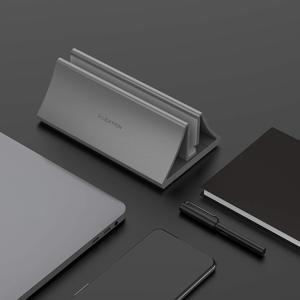 Image 5 - Алюминиевая вертикальная настольная подставка для MacBook Air/Pro 16 13 15, iPad Pro 12,9, Chromebook и ноутбуков от 11 до 17 дюймов