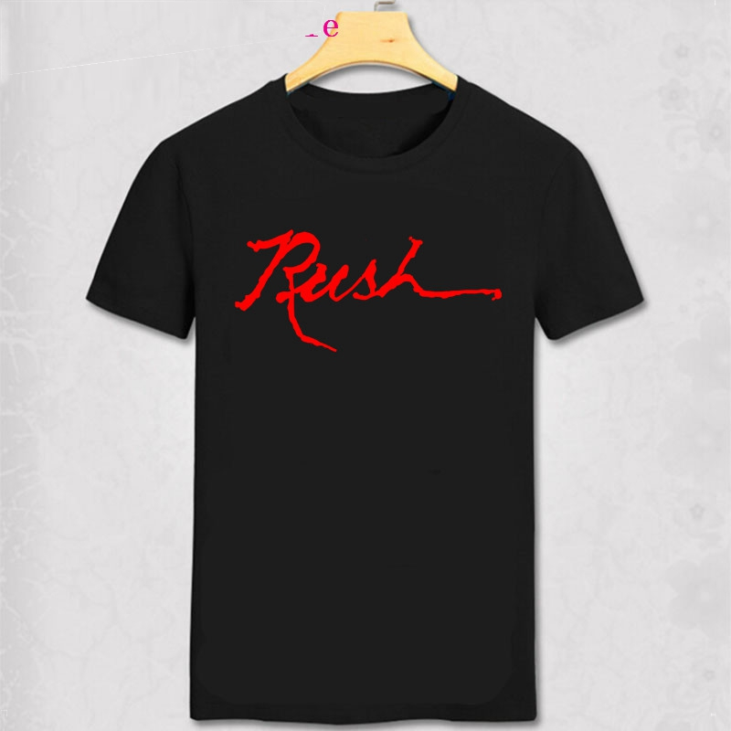 Rush Logo Slim Fit Black T Shirt New Official Band Merch Album Art New Style Rush T Shirt Basic Solid Rush Pattern Tee Shirt image